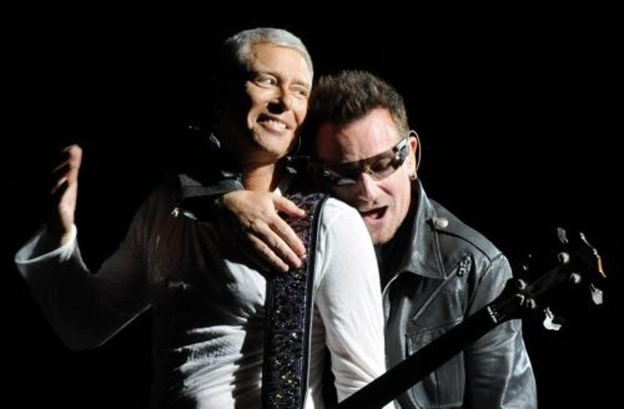 Adam Clayton (L) en Bono. EPA