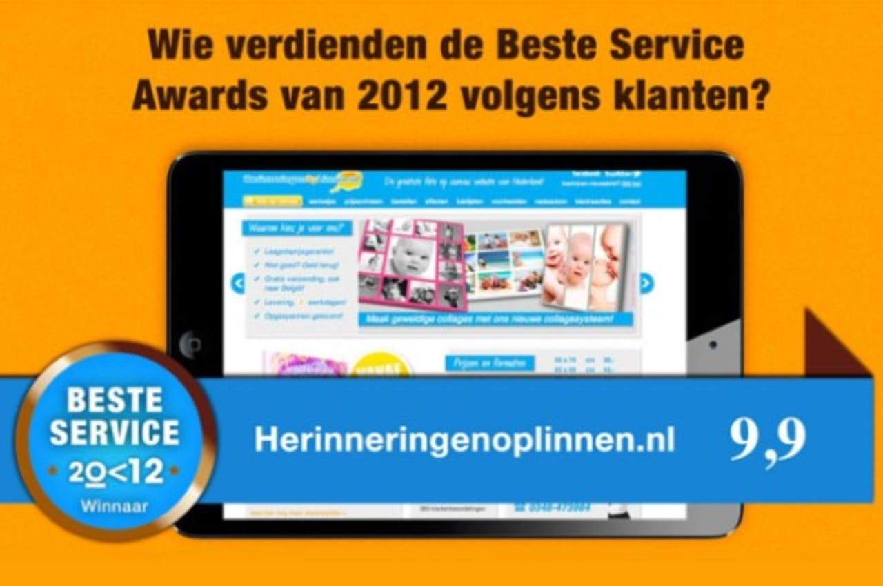 Herinneringenoplinnen.nl wint Preferenso Service Award 2012