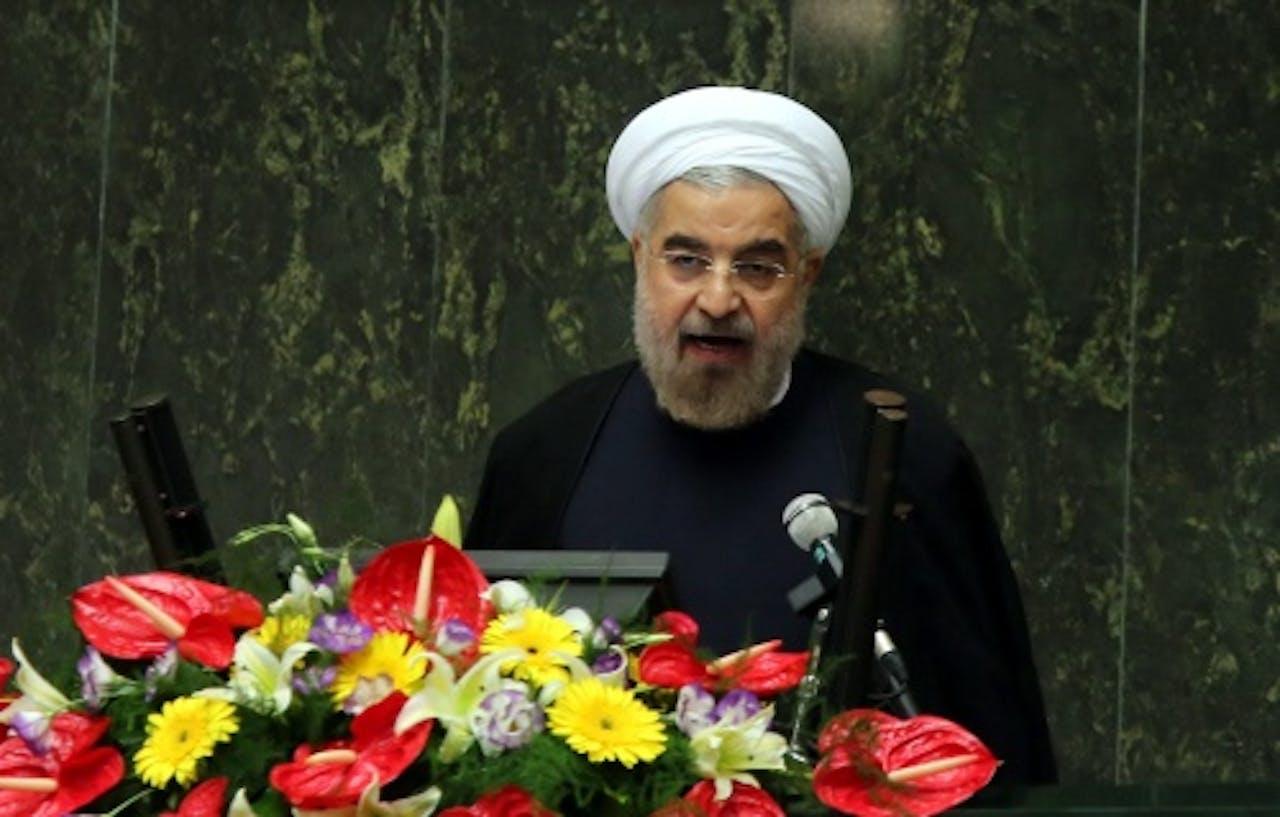 De Iraanse president Hassan Ruhani. EPA