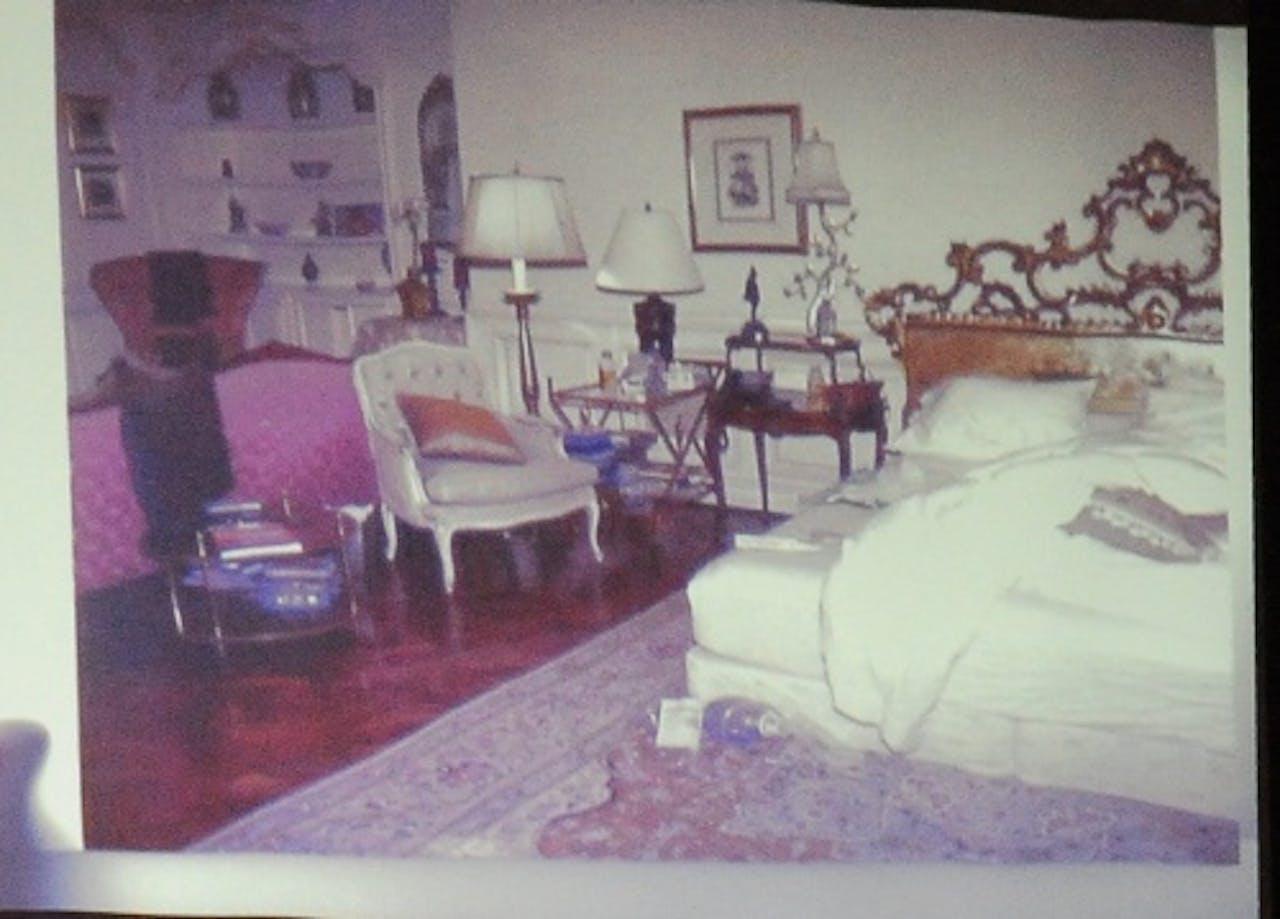 De slaapkamer van Michael Jackson waar hij stierf. EPA