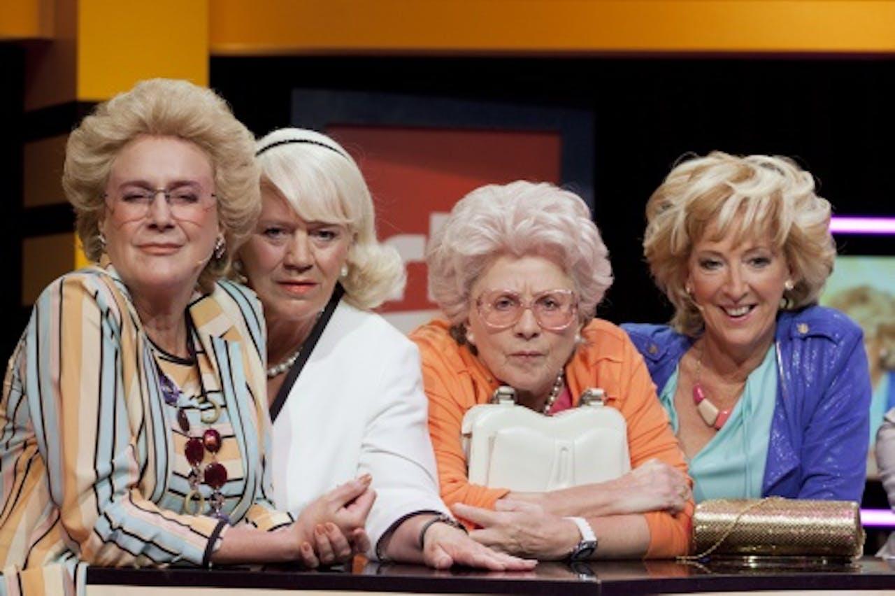 Beppie Melissen (l) met haar collega's van de serie Golden Girls. ANP Kippa