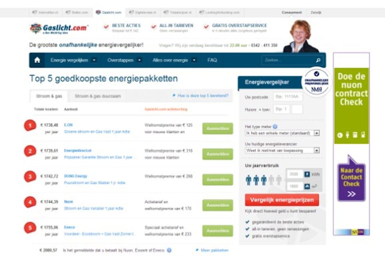 Nieuwe website Gaslicht.com geschikt voor mobiele apparaten