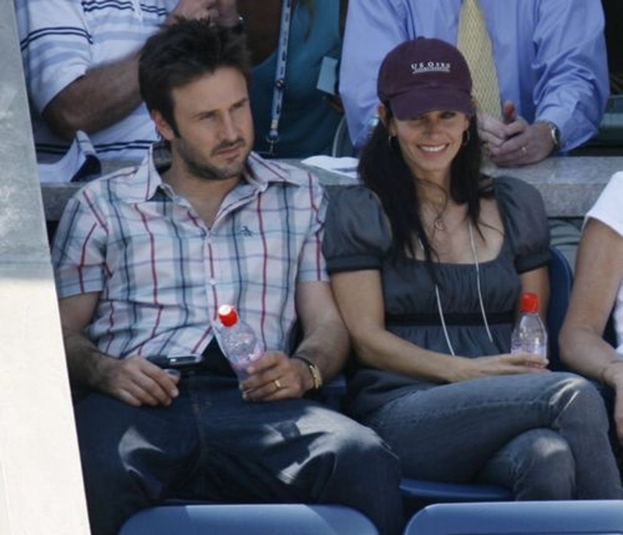 Courteney Cox en haar ex-man David Arquette. EPA