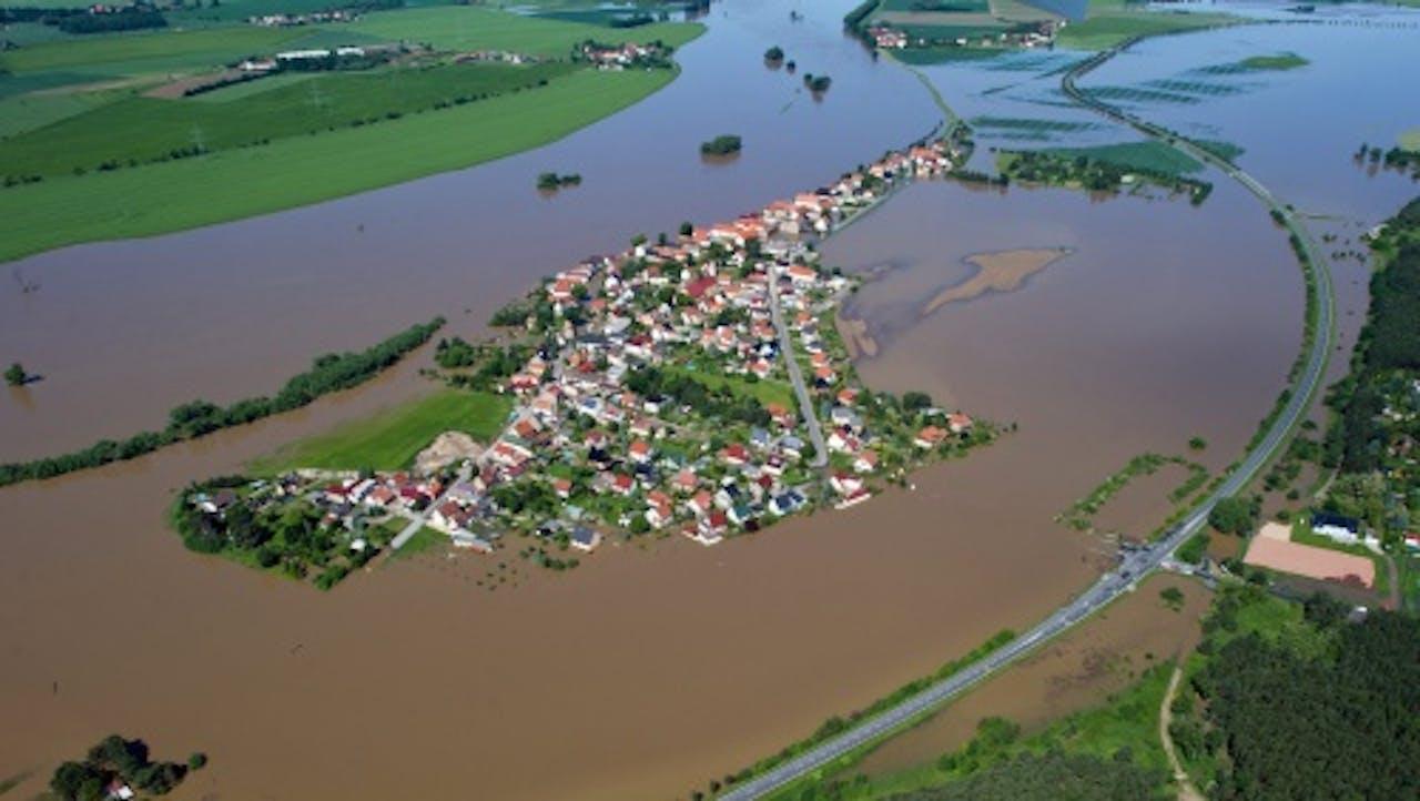 De Elbe bij Riesa. EPA