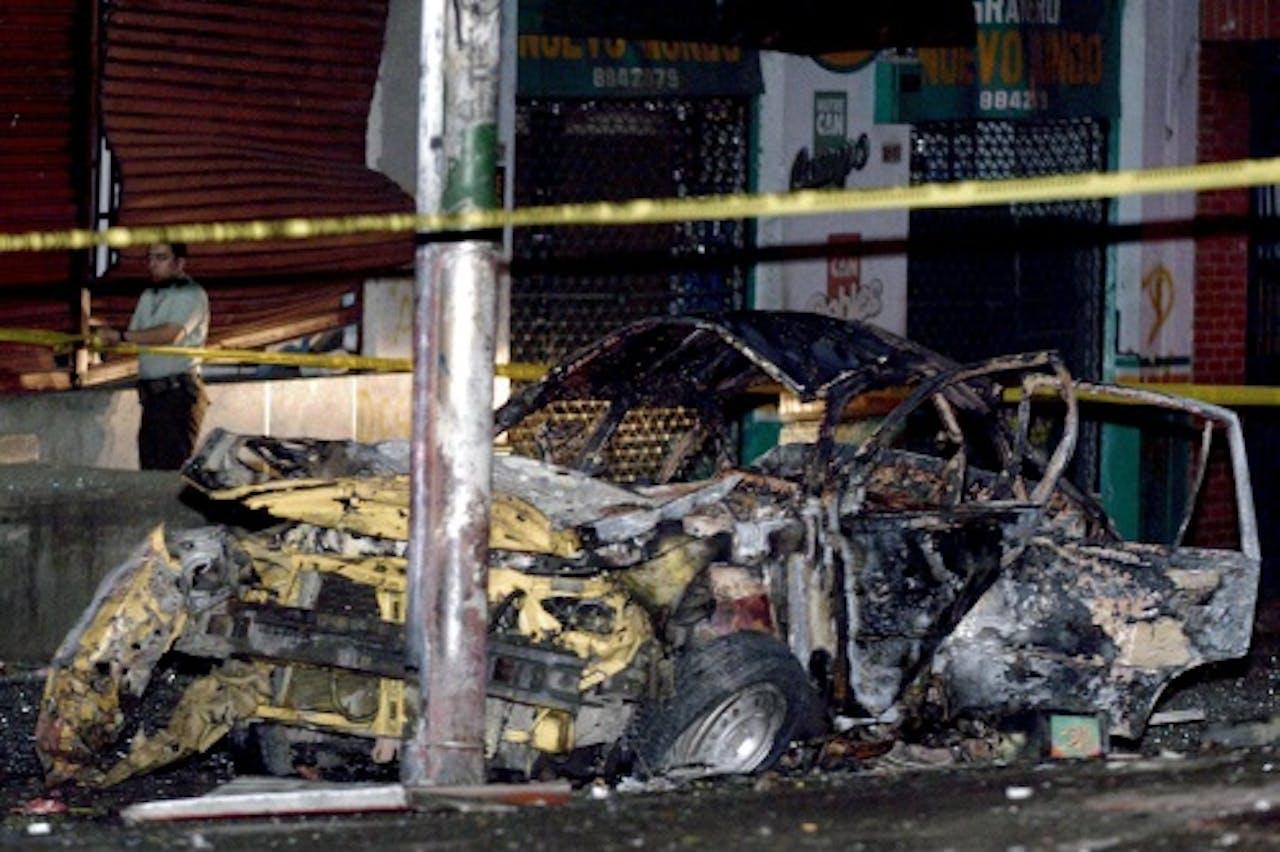 Archiefbeeld van een aanslag in Colombia. EPA