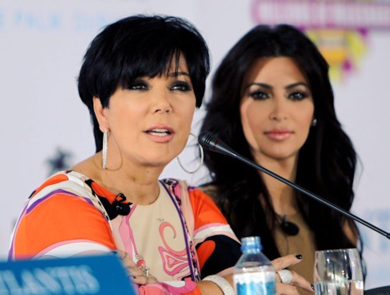 Kris Jenner (L) en Kim Kardashian. EPA
