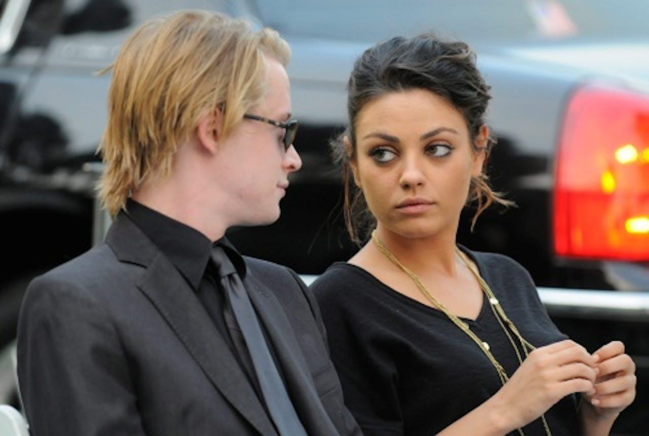 Macaulay en Mila in 2009. EPA