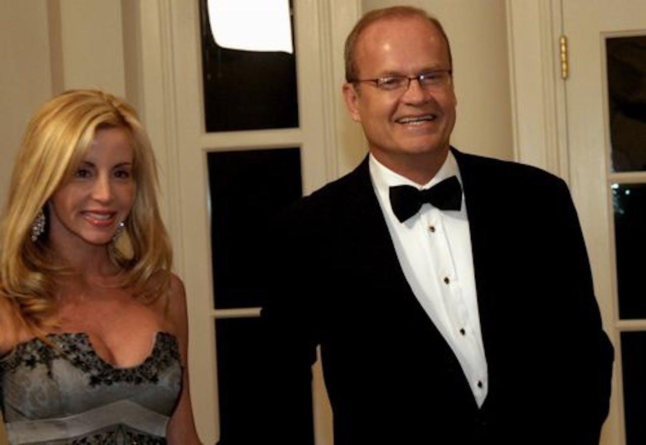 Camille en haar ex-man Kelsey Grammer. EPA