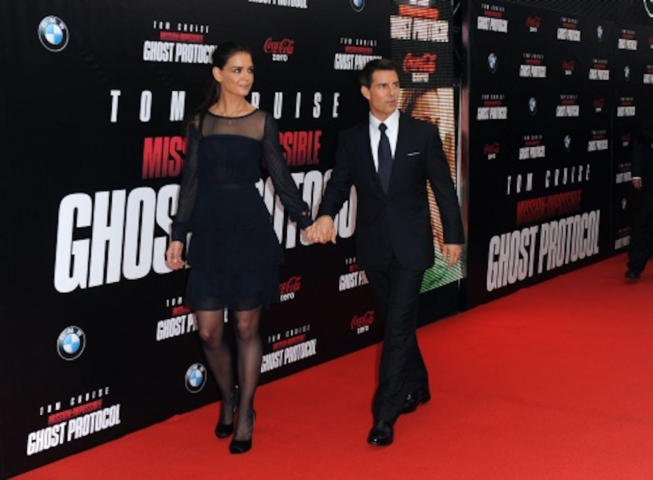 Ouders Katie Holmes en Tom Cruise. EPA