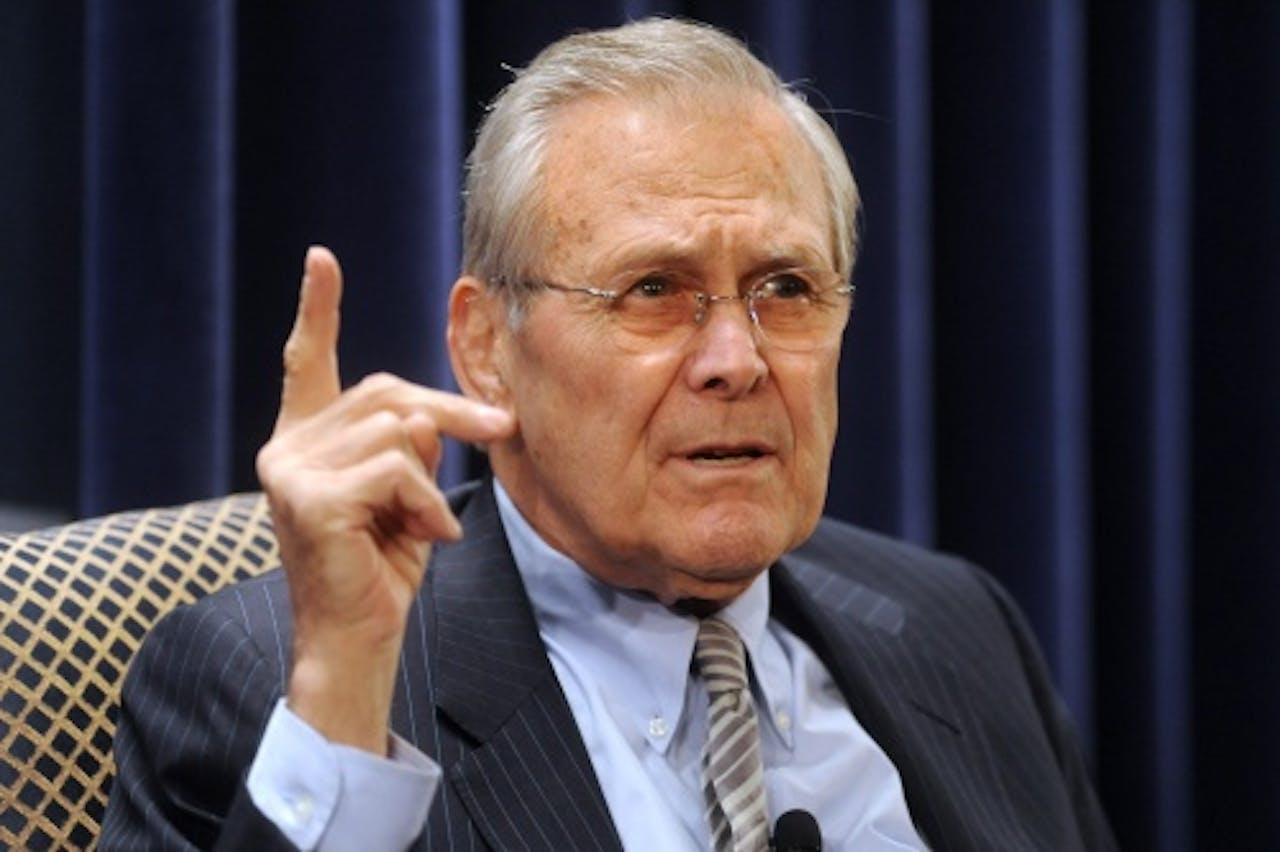 Donald Rumsfeld. EPA