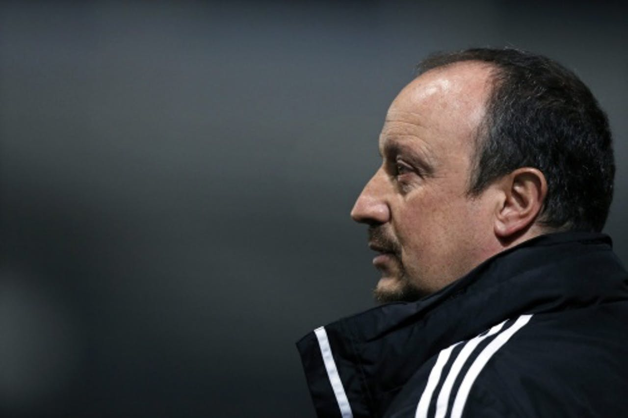 Archiefbeeld van trainer Rafael Benítez van Chelsea. EPA