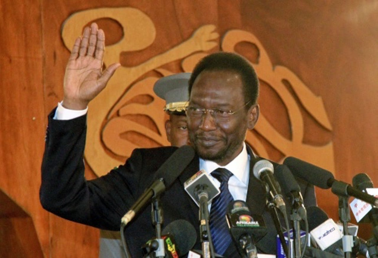 Archiefbeeld van interim-president van Mali Dioncounda Traoré. EPA