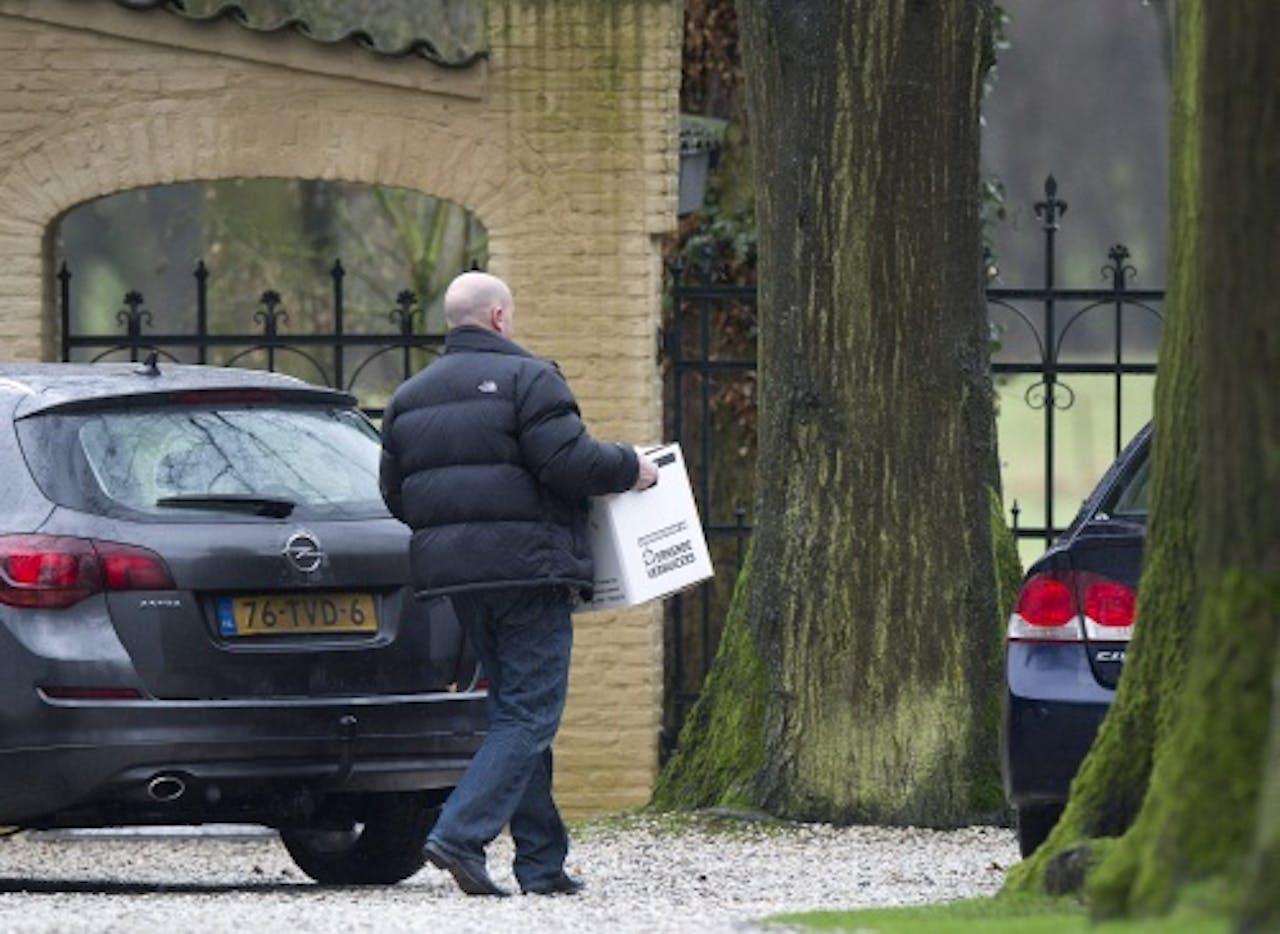 Corruptieonderzoek in de zaak tegen VVD-politicus Jos van Rey (januari 2013). ANP