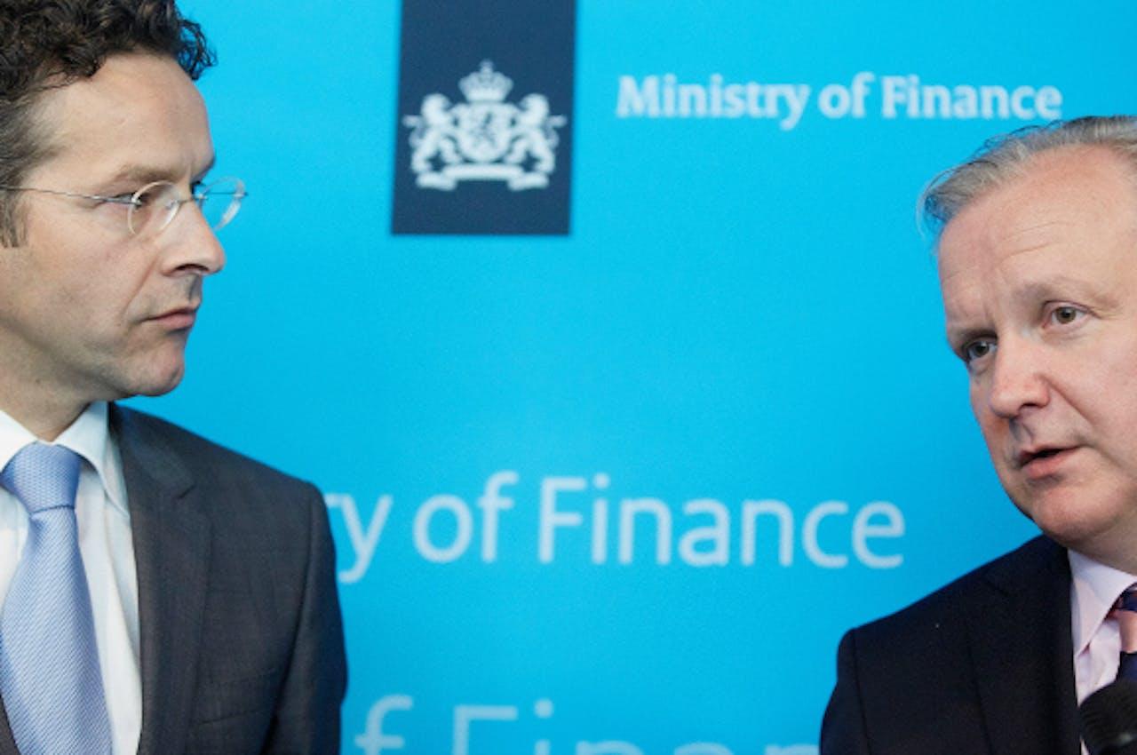 Juni 2013: Eurocommissaris Olli Rehn op bezoek bij minister Dijsselbloem