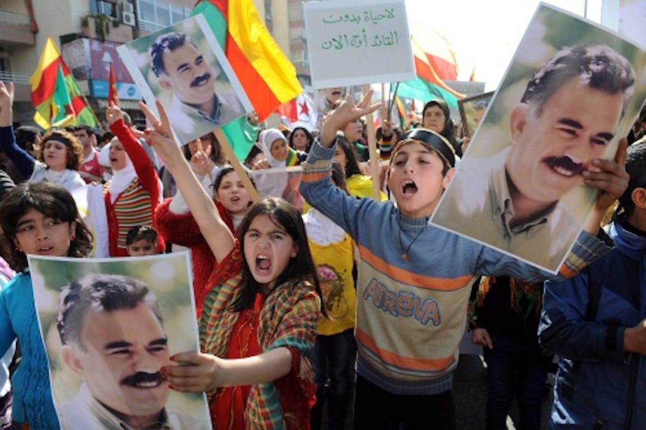 Demonstratie in Beiroet op 10 februari. Archieffoto EPA