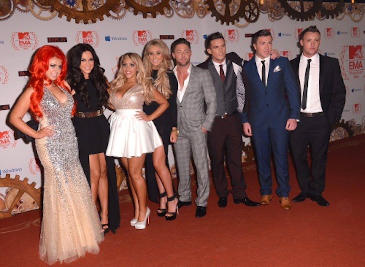 De cast van Geordie Shore tijdens een evenement in 2012. EPA
