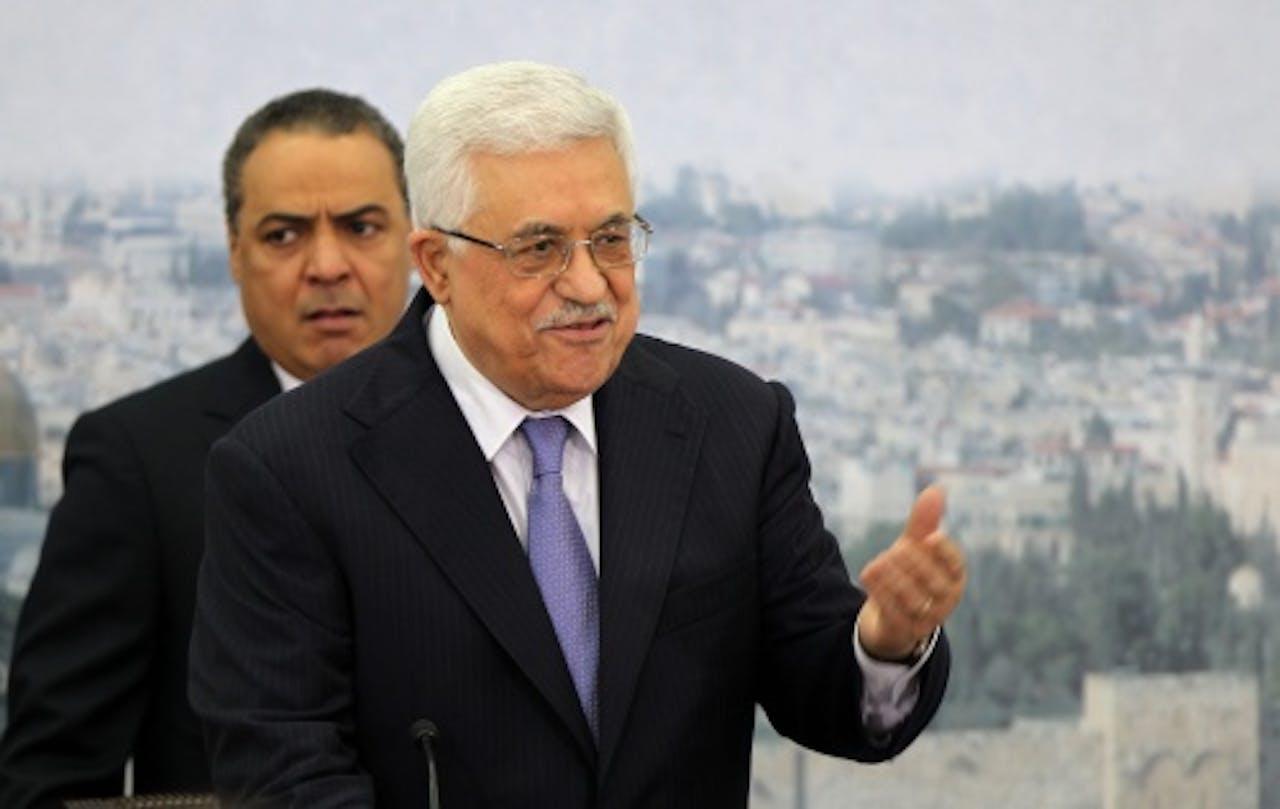 De Palestijnse president Mahmoud Abbas. EPA