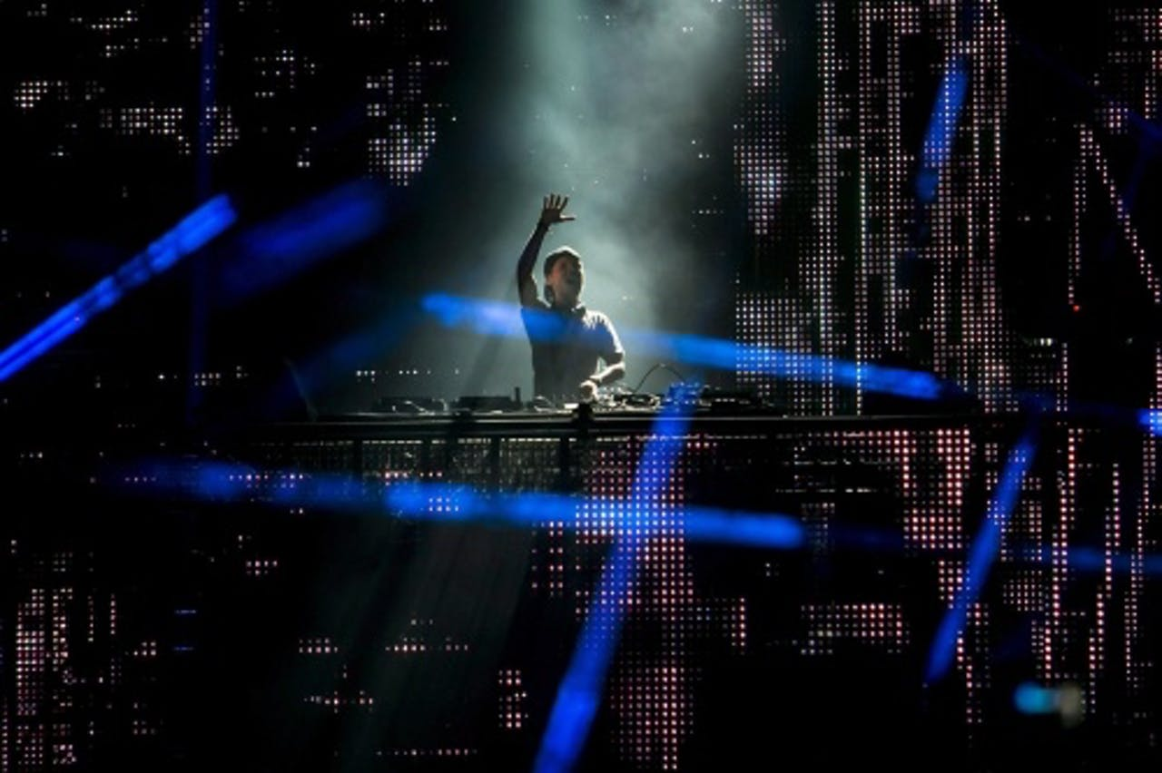 De Zweedse dj Avicii (Tim Bergling) draaide donderdagavond in Hongarije. Foto: EPA