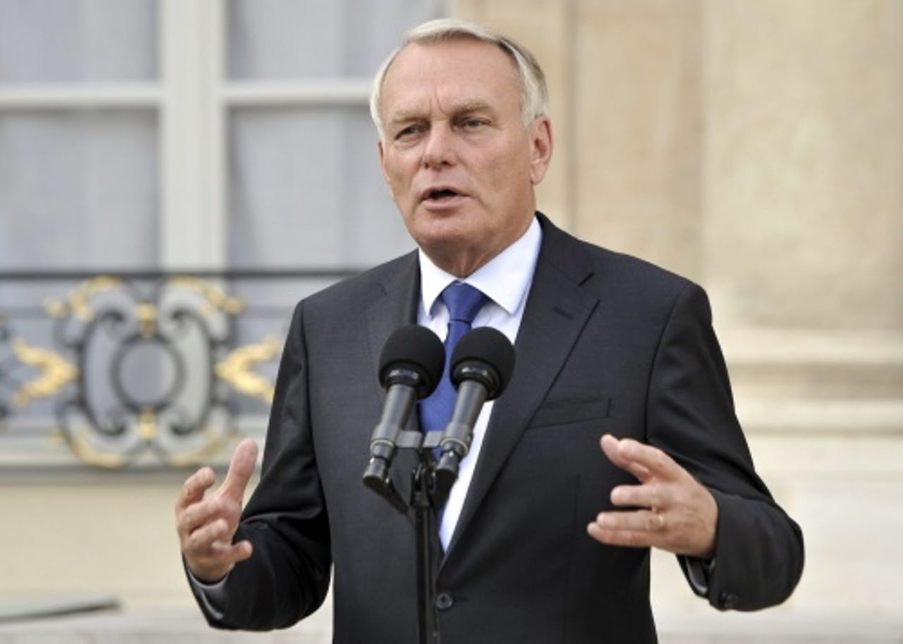 Archiefbeeld van de Franse premier Jean-Marc Ayrault. EPA