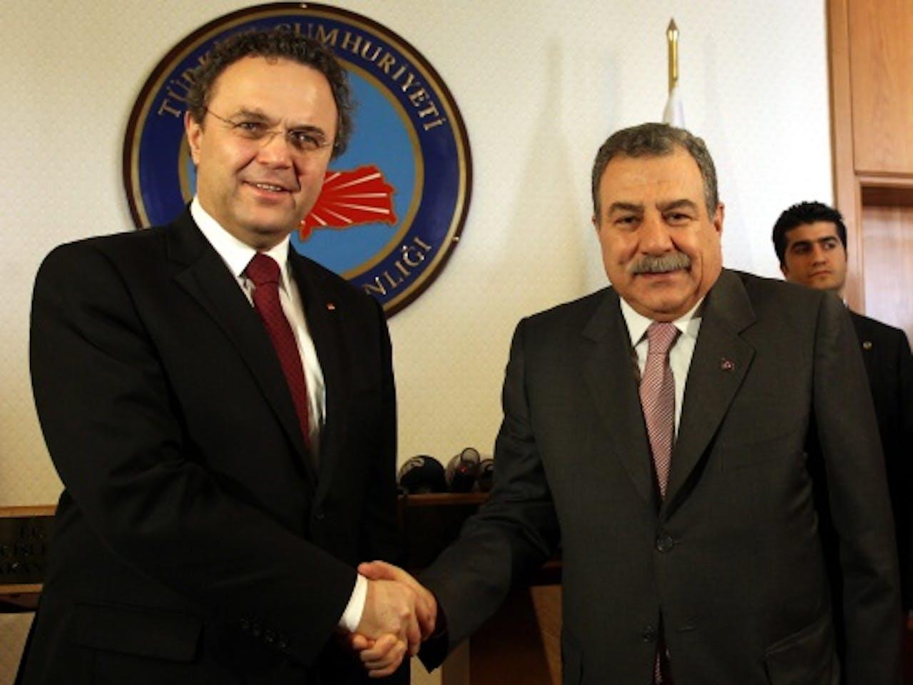 Muammer Güler (R). EPA