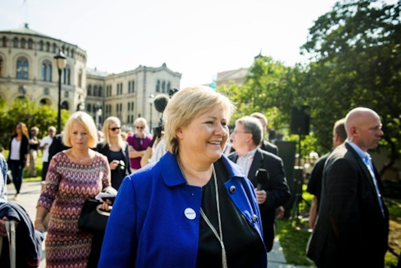 Erna Solberg (EPA)