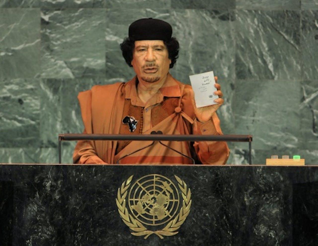 Kaddafi op archiefbeeld van EPA.