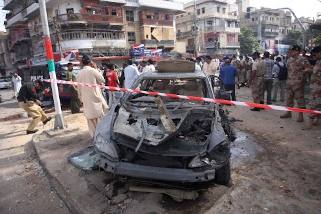 Archiefbeeld van een straat na een bomaanslag in Pakistan. EPA