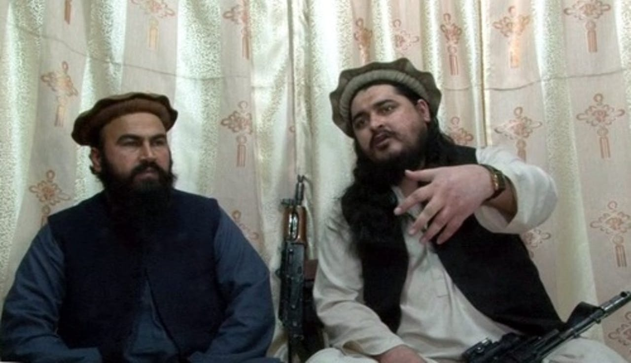 Hakimullah Mehsud (R). EPA