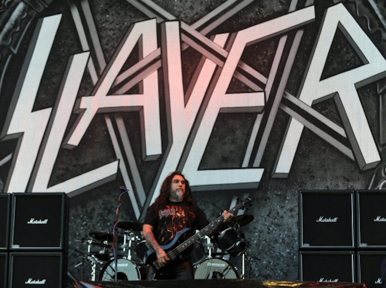 Archiefbeeld van Slayer-zanger en -bassist Tom Araya. EPA