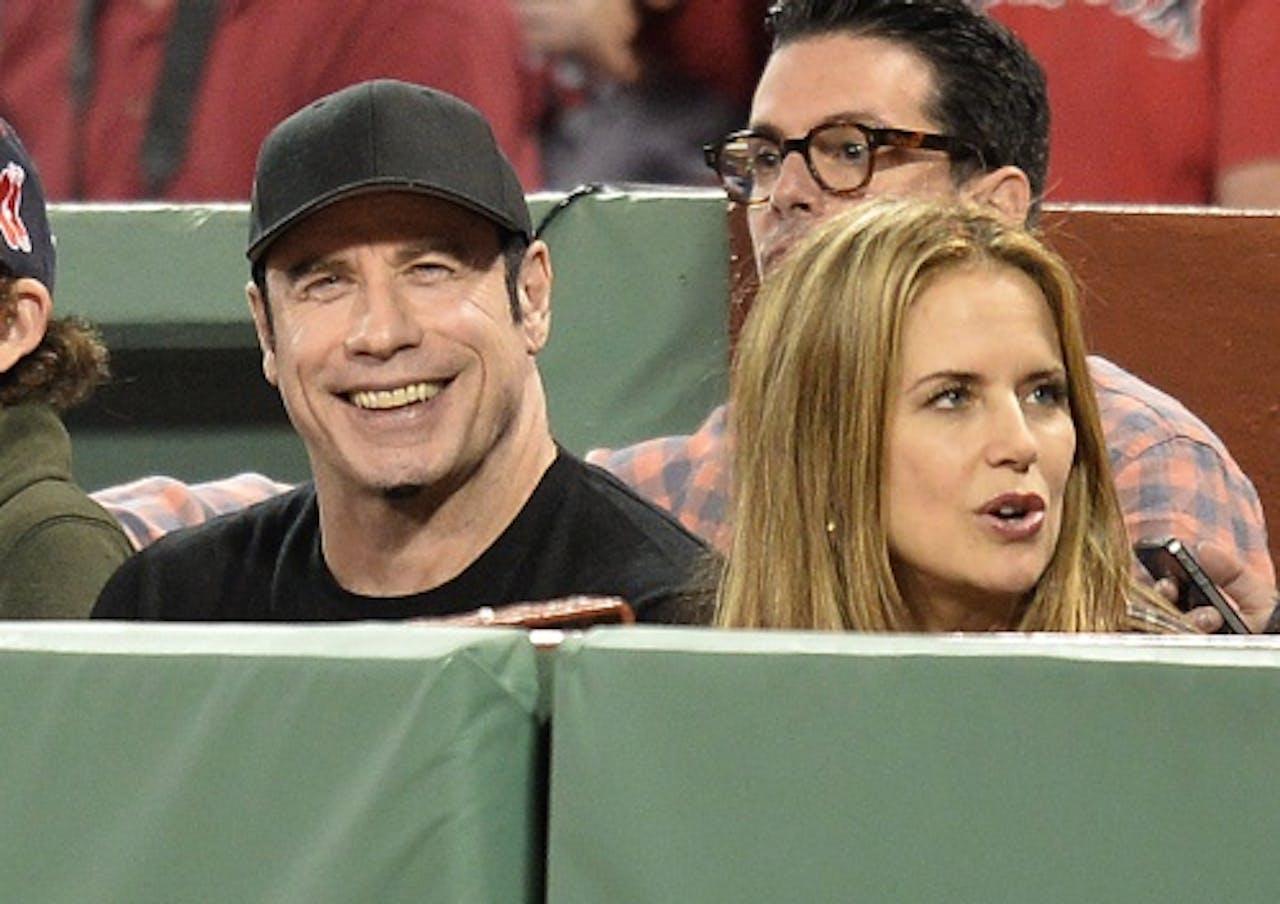 John Travolta en zijn vrouw Kelly Preston. EPA