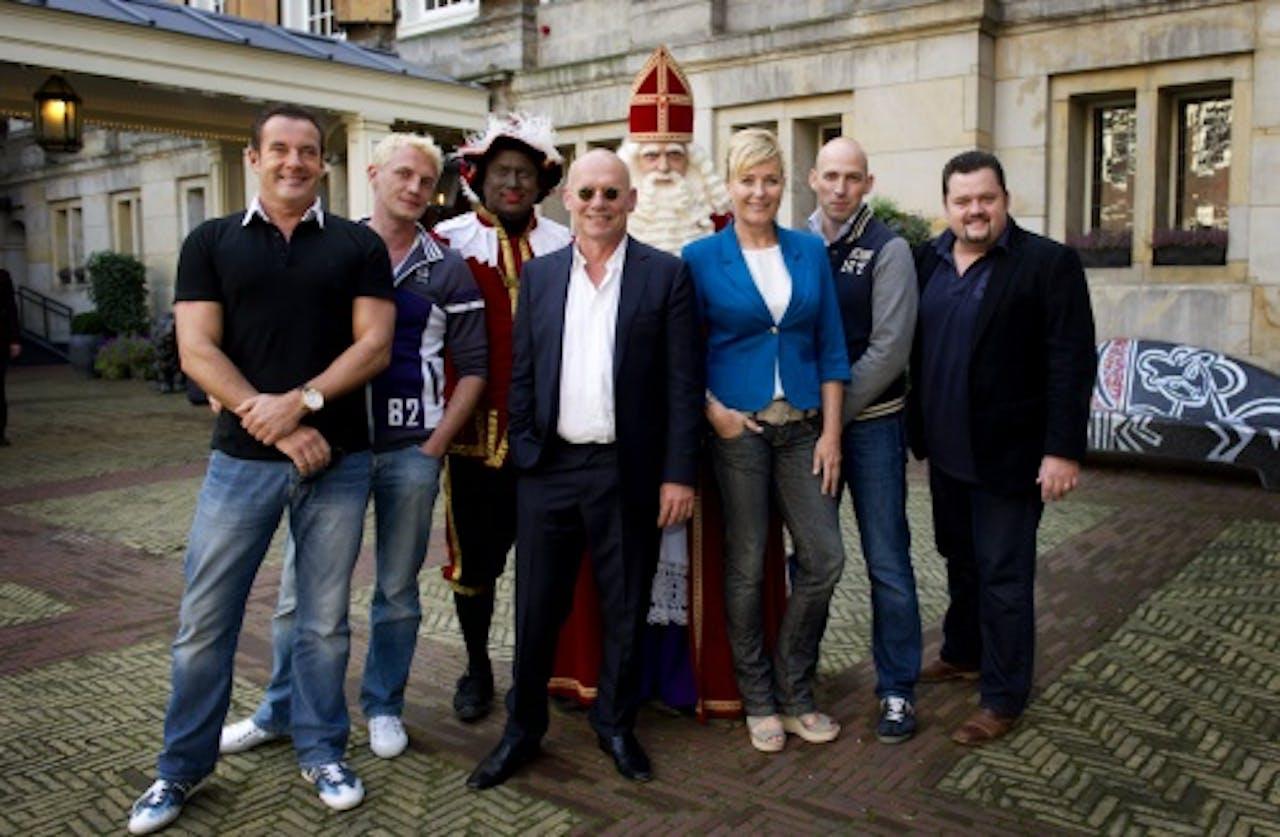 De cast van Sinterklaas en het raadsel van 5 december. ANP Kippa