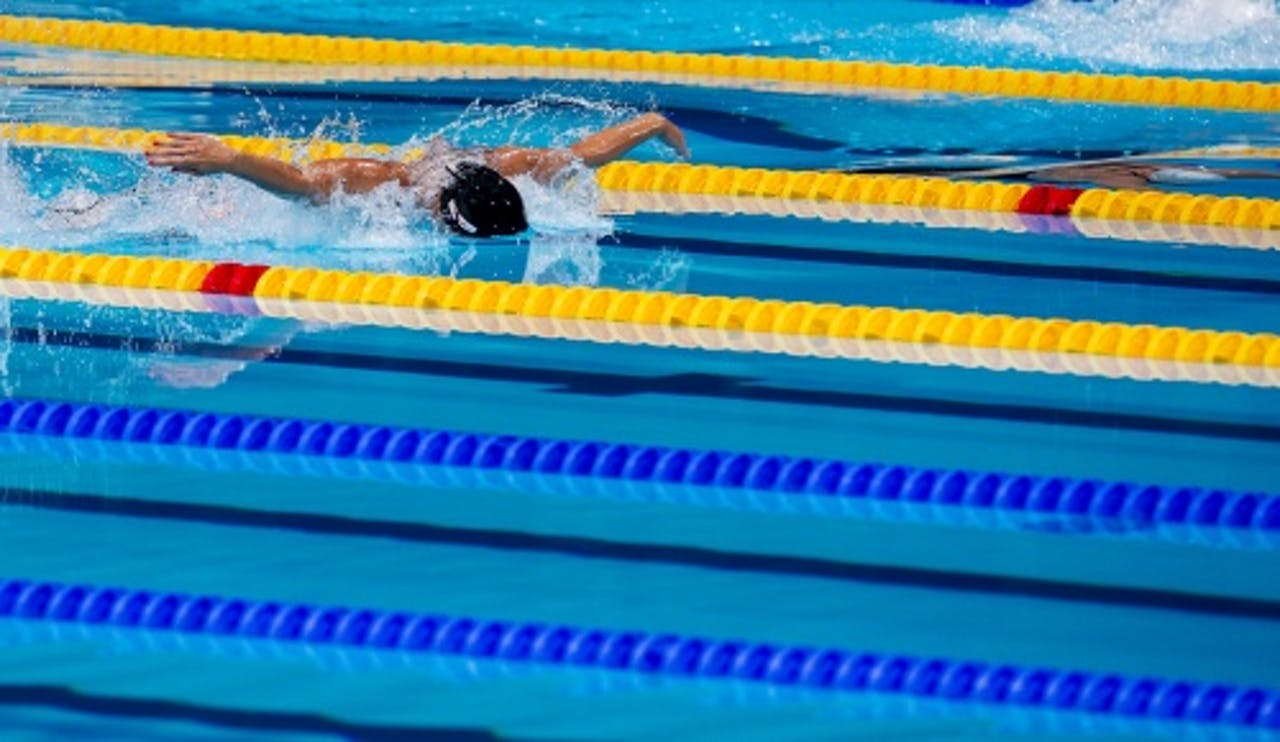 Ranomi Kromowidjojo tijdens de finale van de 50 meter vlinderslag op het WK zwemmen in Barcelona, ANP