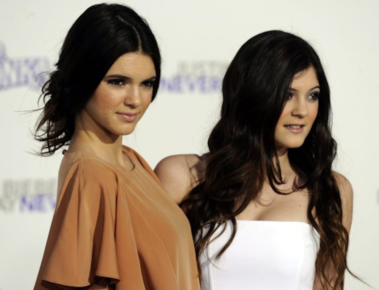 Kendall (rechts) met zus Kylie EPA