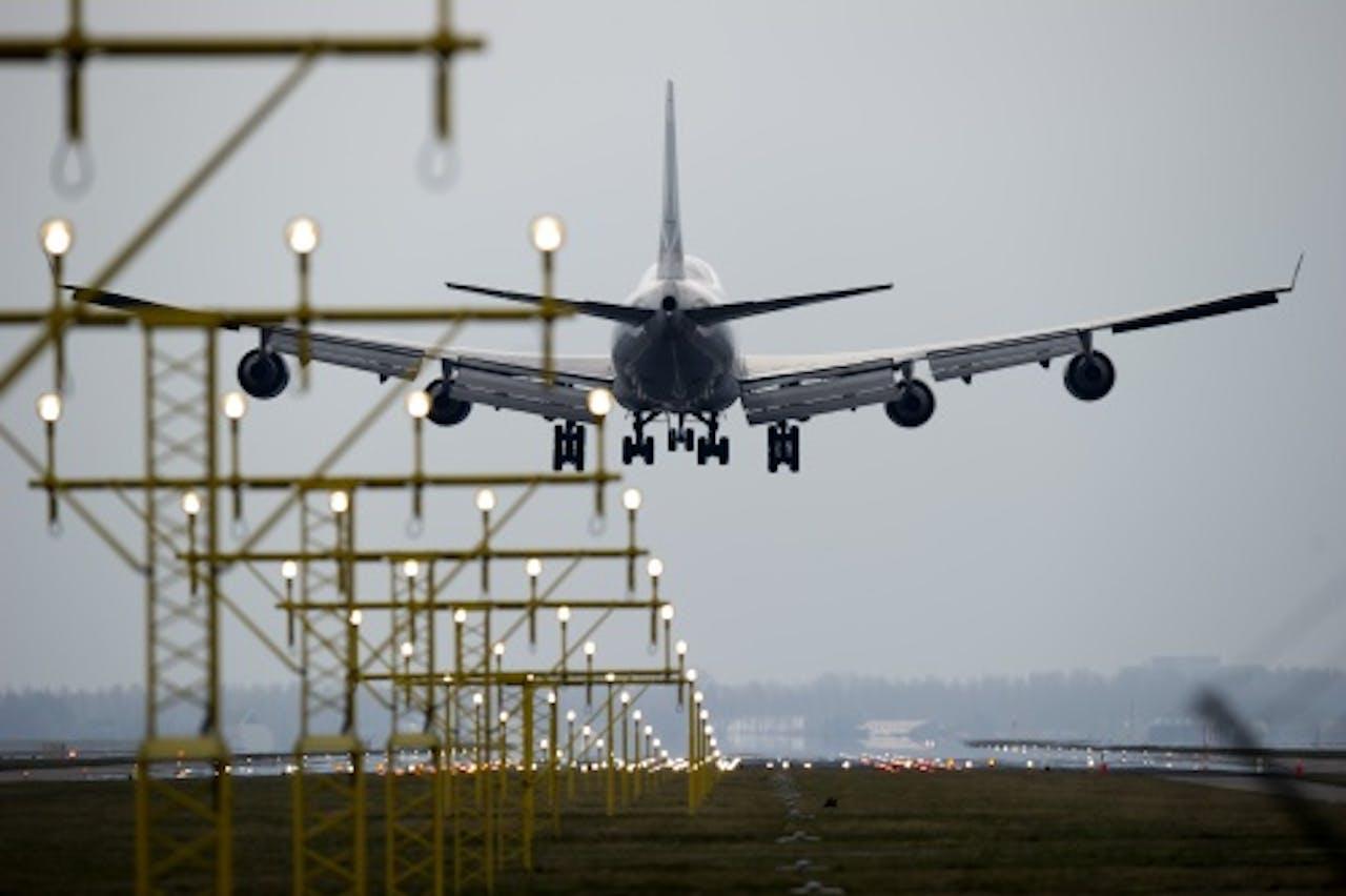 Archiefbeeld landing op Polderbaan. ANP