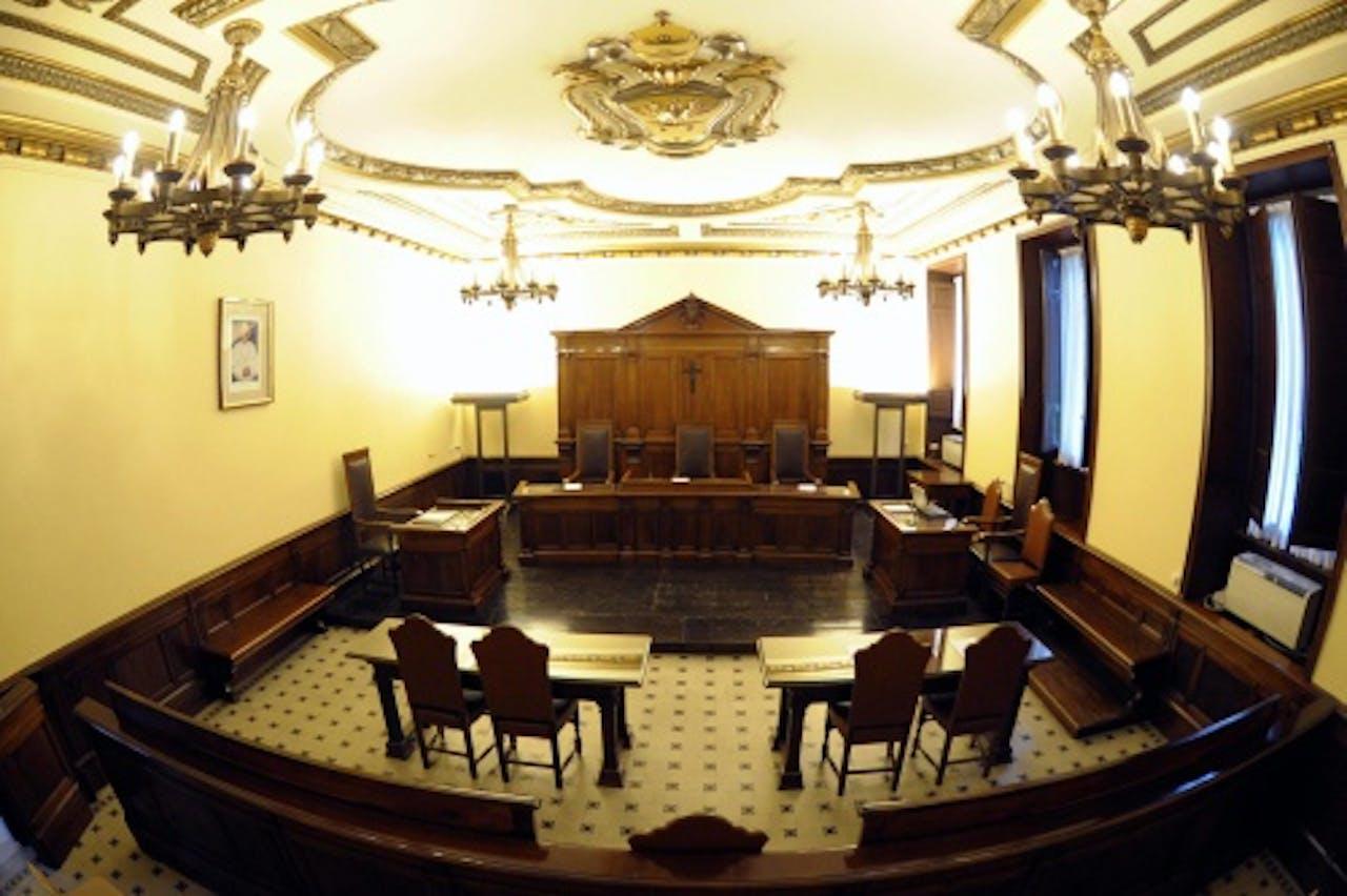 De zaal van het juridisch bureau van het Vaticaan. EPA