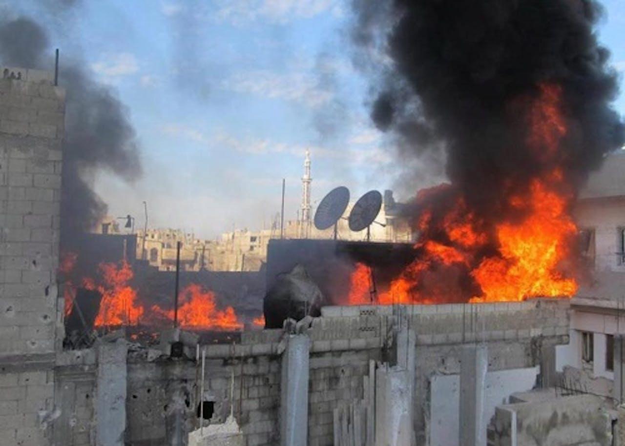 De Syrische stad Homs wordt al wekenlang onder vuur genomen door troepen van het regeringsleger. EPA
