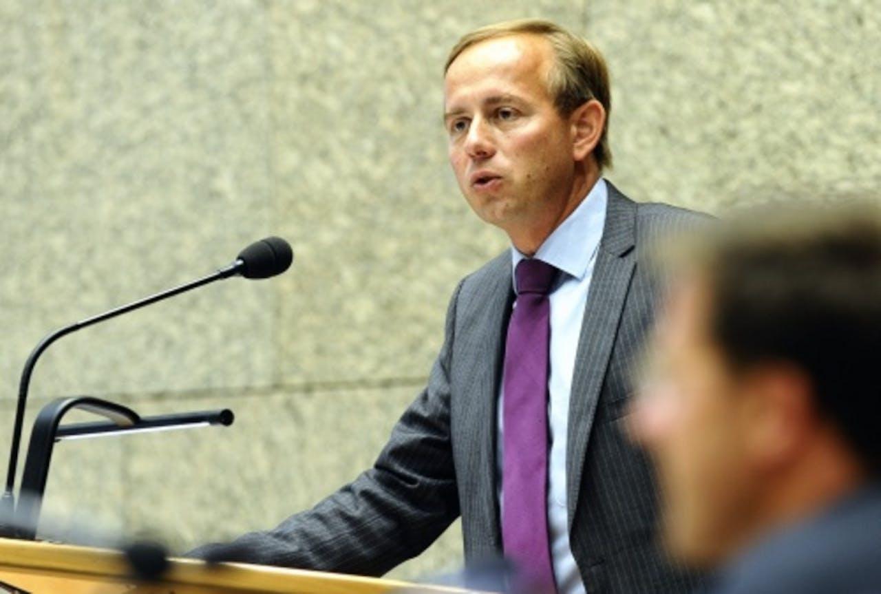 Fractievoorzitter in de Tweede Kamer Kees van Staaij van de SGP. ANP