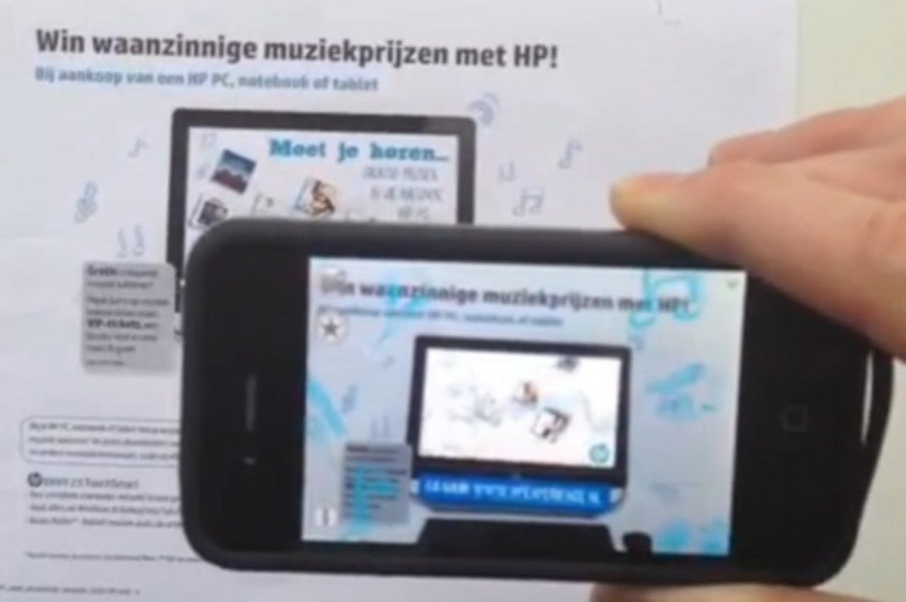Augmented reality retailcampagne voor HP Connected Music Player