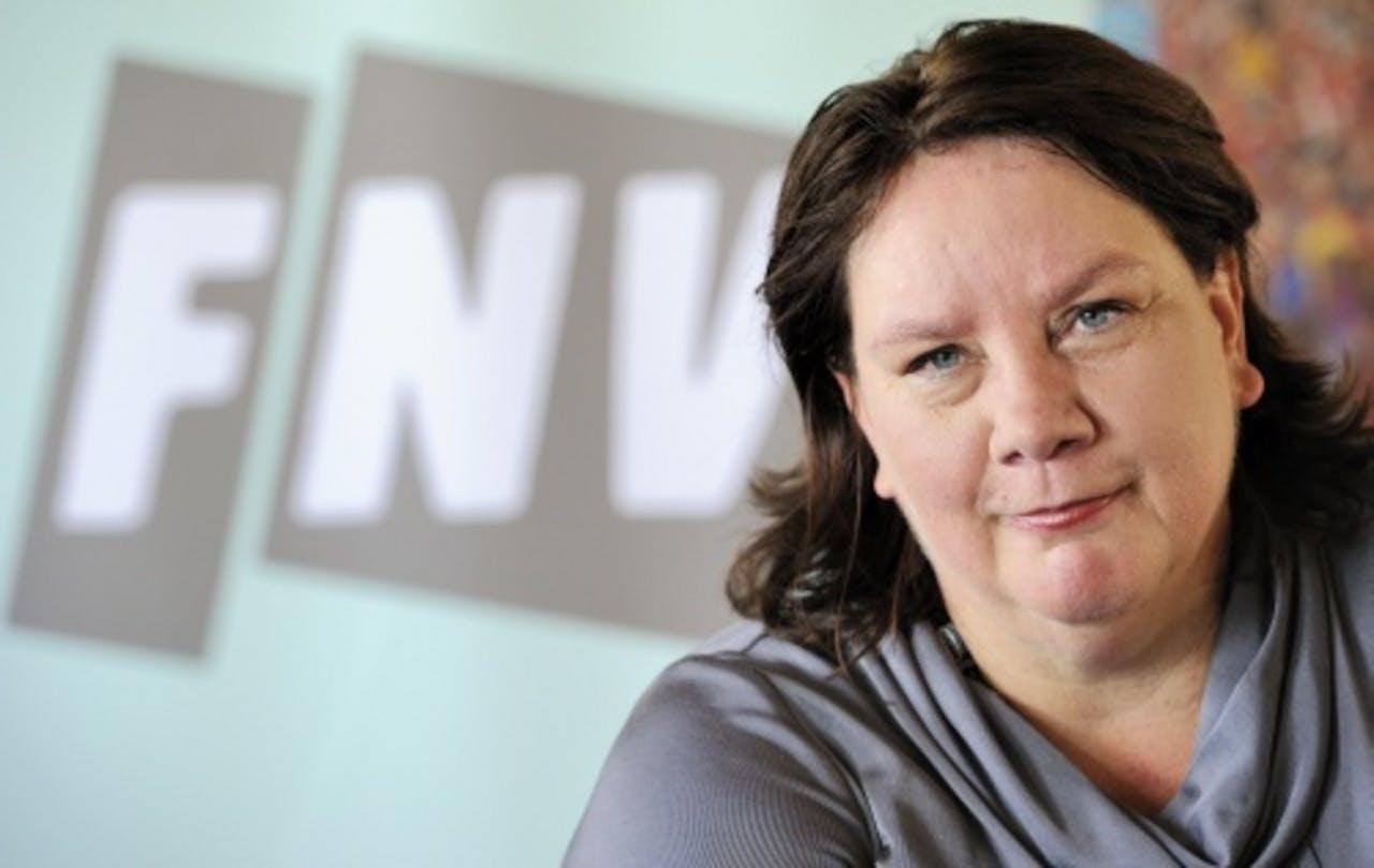 FNV-voorzitter Agnes Jongerius. ANP