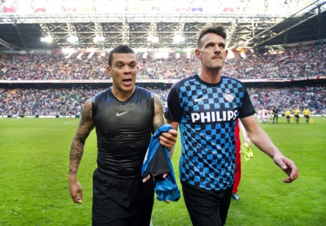 Wilfred Bouma en Jan Vennegoor of Heselink. ANP