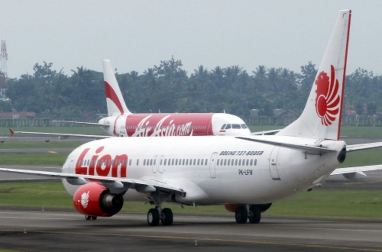 Een toestel van Lion Air. EPA