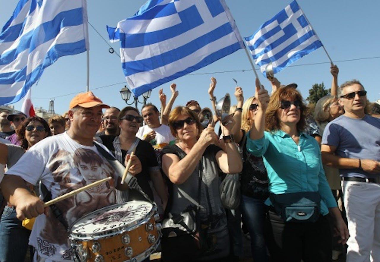 Beeld van eerdere staking in Griekenland. EPA