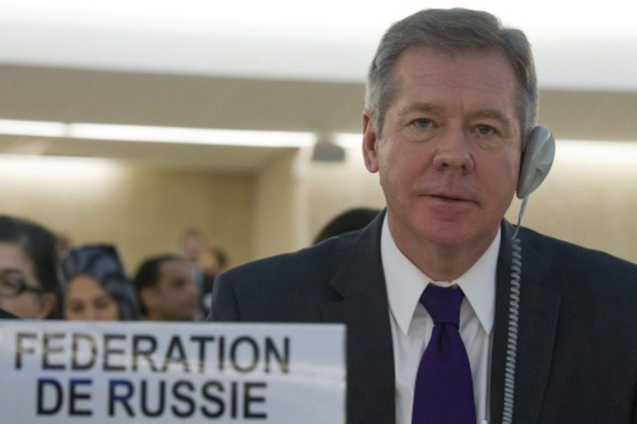 De plaatsvervangende Russische minister van Buitenlandse Zaken Gennady Gatilov. EPA