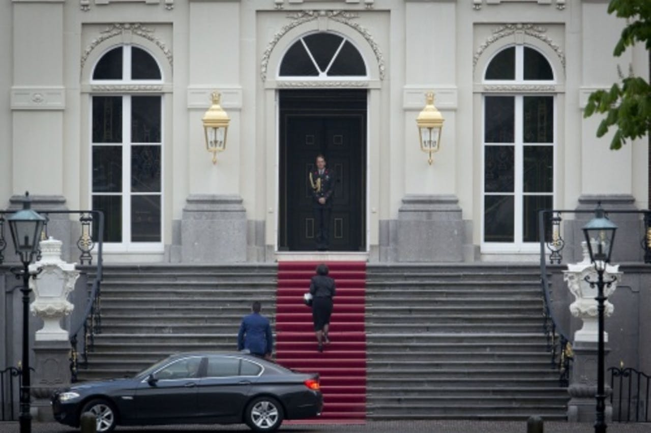 Voorzitter van de Tweede Kamer Gerdi Verbeet komt aan bij paleis Huis ten Bosch. ANP
