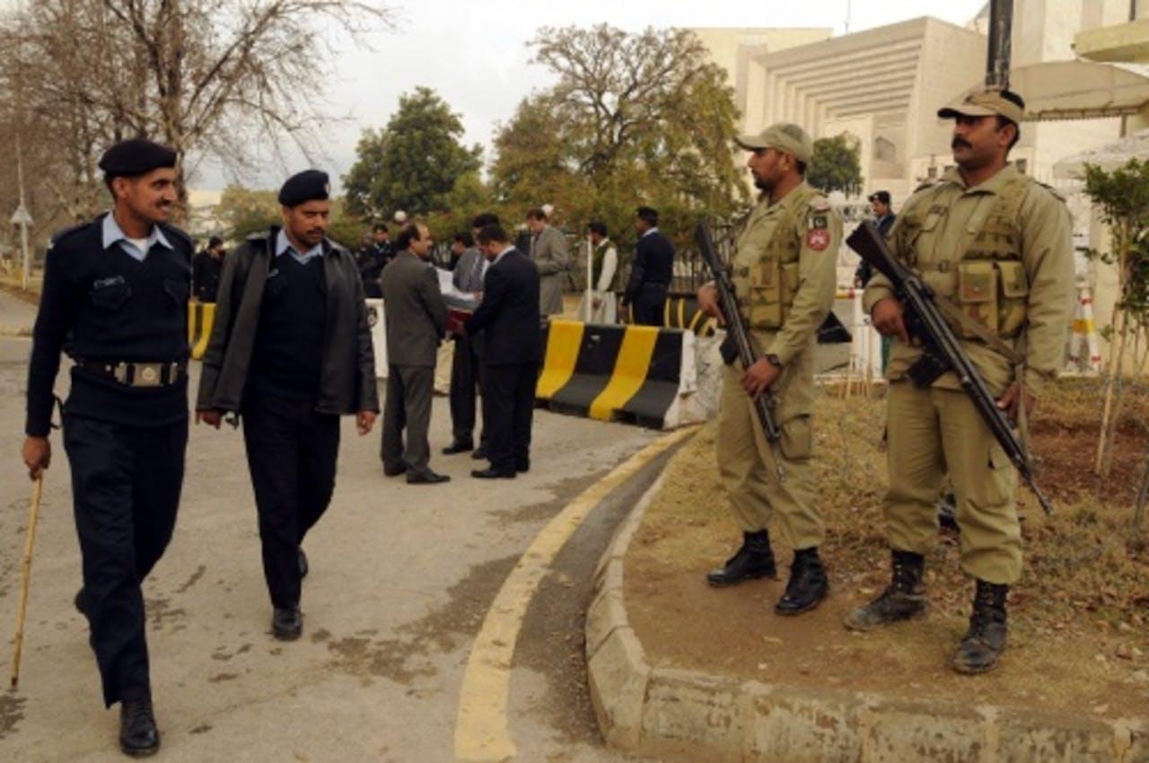 Archiefbeeld van Pakistaanse politie. EPA