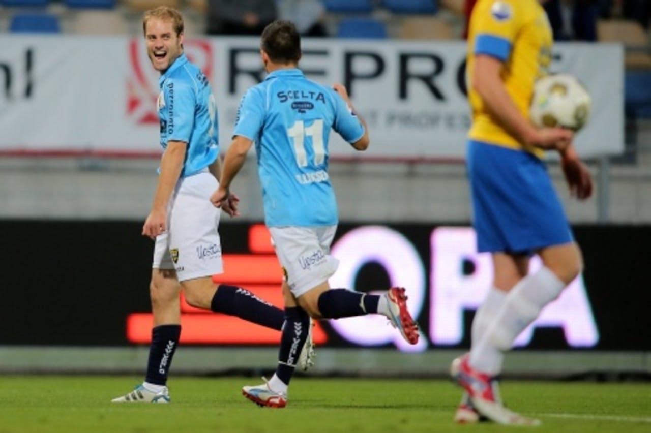 VVV Venlo-speler Marcel Seip (L) en Bryan Linssen. ANP