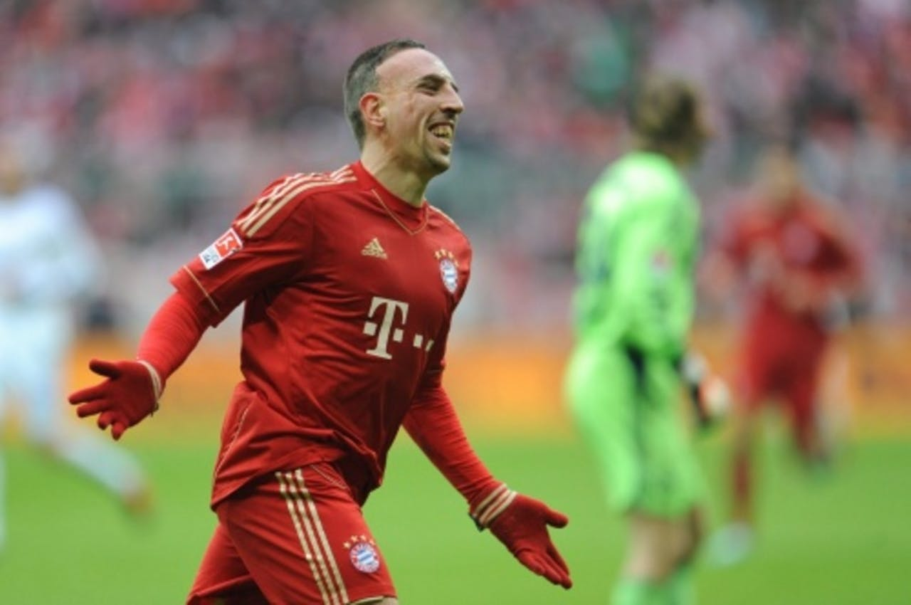 Franck Ribéry viert zijn openingstreffer. EPA