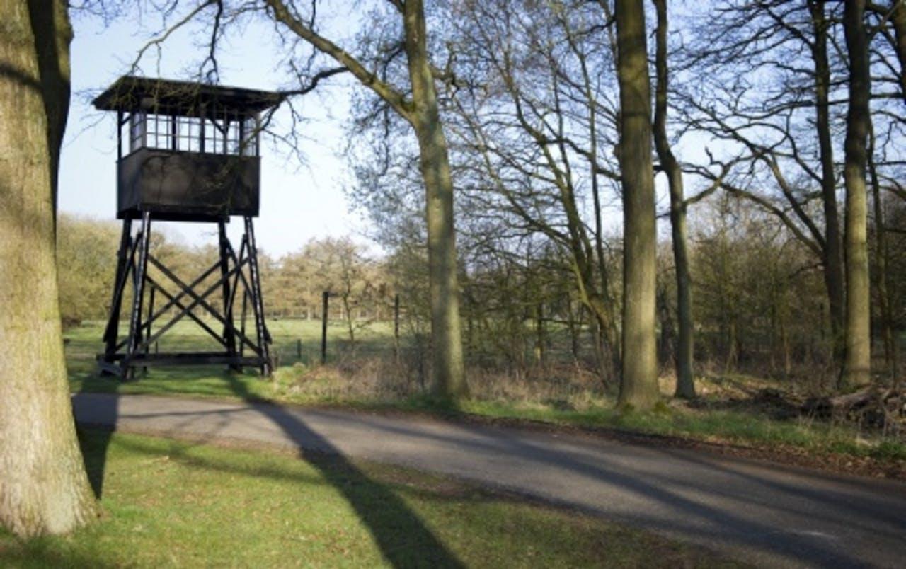 De wachttoren op het terrein van het voormalige Kamp Westerbork. ANP