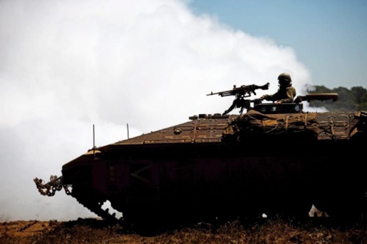 Een Israëlisch militair voertuig (archiefbeeld). EPA