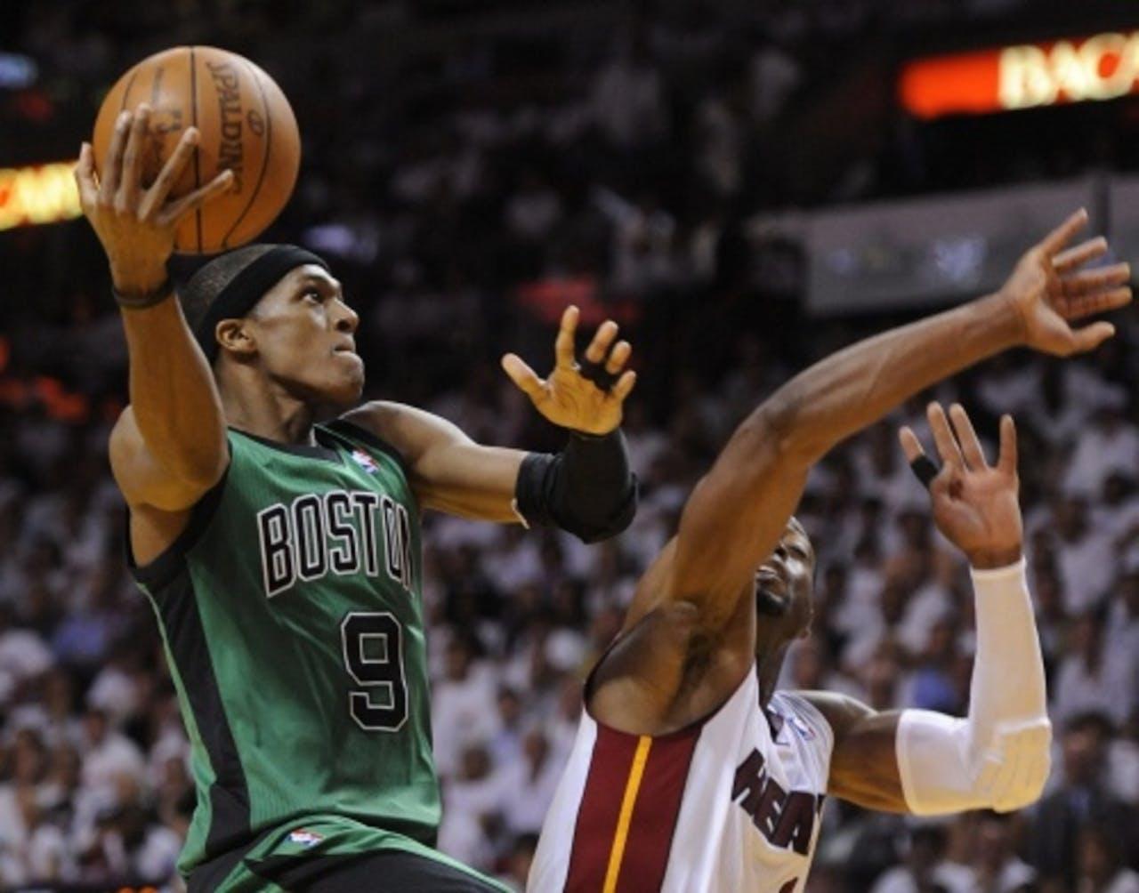 Bolton Celtics-topschutter Rajon Rondo (archieffoto, mei 2012). EPA